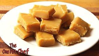Peanut Butter Freezer Fudge | One Pot Chef