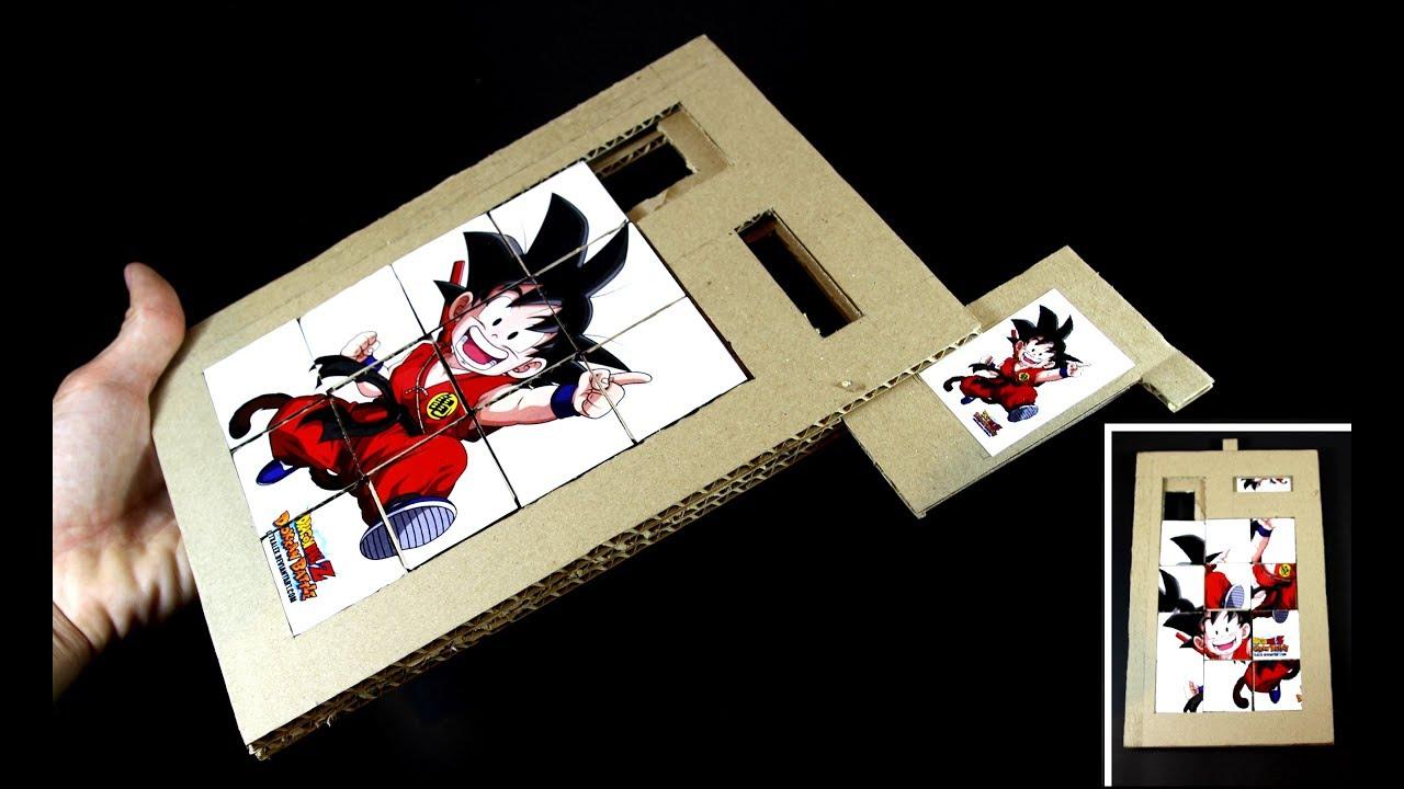 Un Cartón Haga De Juego Rompecabezas Diapositivas EHD9I2