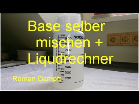 base selber mischen liquidrechner youtube. Black Bedroom Furniture Sets. Home Design Ideas