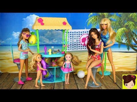 Barbie y Sus Hermanas Dia en la Playa con Tatuajes Divertidos!