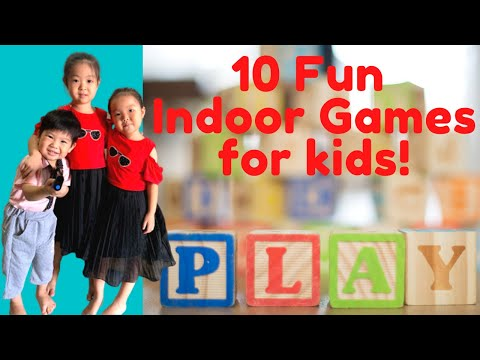 10 Fun Indoor Games for kids [2020] | With only household items
