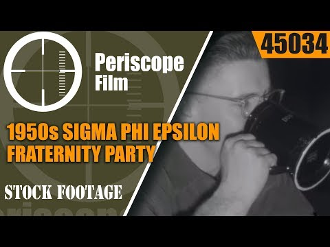 1950s SIGMA PHI EPSILON FRATERNITY PARTY  U.C. BERKELEY HOME MOVIE   45034