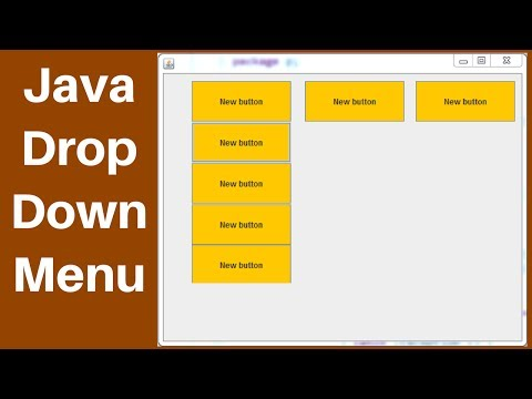 JAVA - How to Create a Drop Down Menu in Java Eclipse [ with source code ]