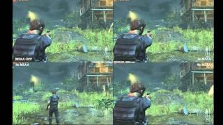 Max Payne 3 MSAA off 2x 4x 8x comparação