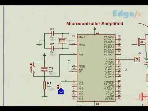 Microcontroller Circuit Diagram  U0026 Description