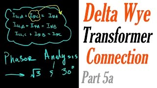 Introduction to the Delta Wye Transformer Connection Part 5a: Current Phasor Analysis