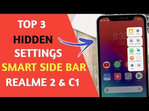 Realme : Top 3 Hidden Settings Of Realme Smart Side Bar | Realme 2