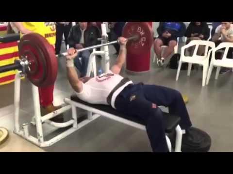 Manuel Valbuena Campeón de España PRESS DE BANCA 100kg en barra. Master -90kg