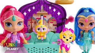 Learn Colors Videos for Kids; Paw Patrol With Shimmer and Shine Bedtime Routine