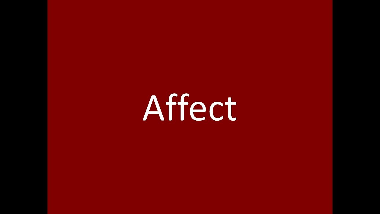 Affect Meaning Definition Pronunciation Example Synonym Antonyms ...