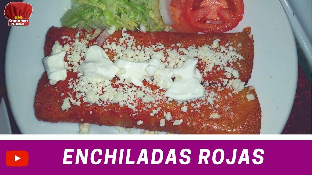 ENCHILADAS Rojas de Pollo receta- Complaciendo Paladares ...