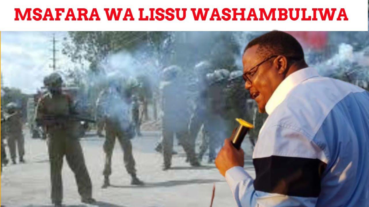Download Msafara wa Lissu wapigwa mabomu na polisi