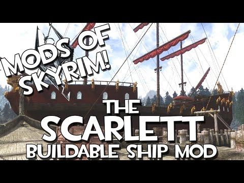 Mods of Skyrim   The Scarlett! Customizable Ship!