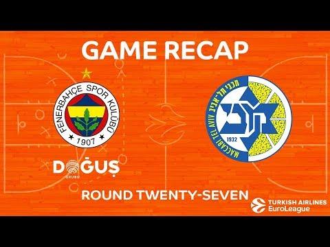 Highlights: Fenerbahce Dogus Istanbul - Maccabi FOX Tel Aviv