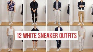 12 Ways to Style White Sneakers   Men's Fashion   Outfit Ideas