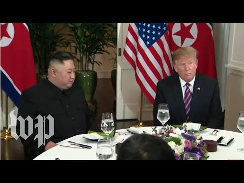 President Trump and Kim Jong Un meet in Hanoi for their second summit