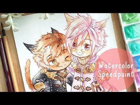 FFXIV Watercolor 【Speedpaint】