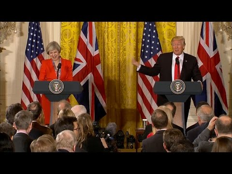 Trump speaks after meeting with Britain's PM Theresa May