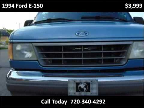 1994 ford e 150 used cars longmont co youtube for Victory motors trucks longmont