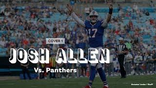 How Bills QB Josh Allen found weak points in Panthers defense