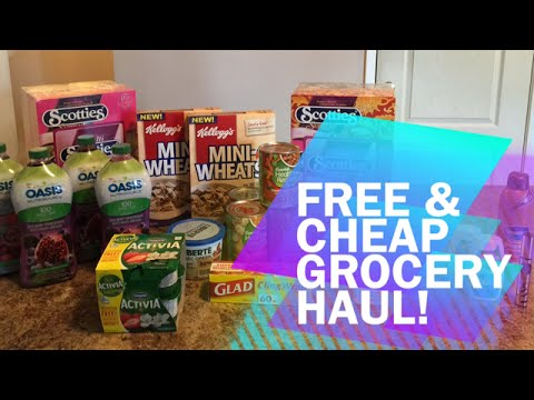 FREE & CHEAP GROCERY HAUL – RED & WHITE DEALS!