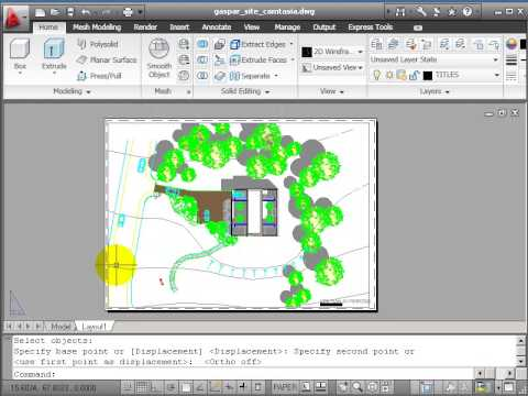 Autocad 2d Drawing Course B Site Plan Part 9 Layout