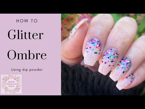 TUTORIAL | Glitter Ombre Nail | DIY Dip Powder Nails thumbnail