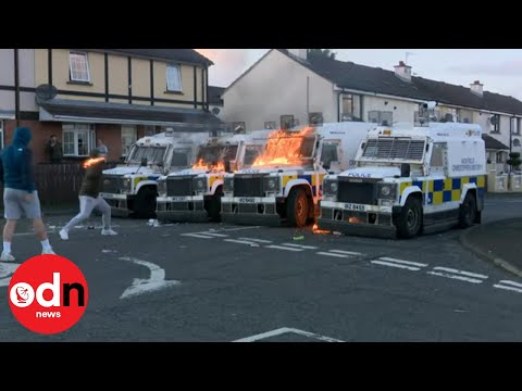 Police In Northern Ireland Attacked With 40 Petrol Bombs