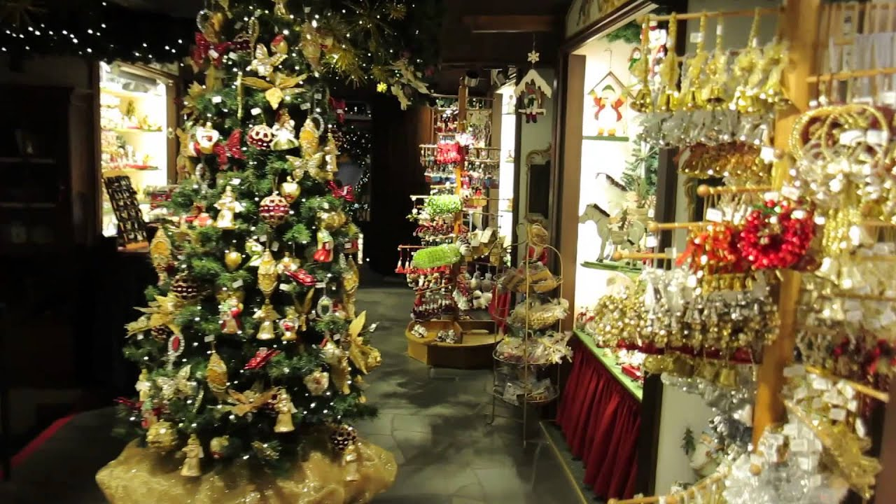 Kathe wohlfahrt 39 s christmas shop at rothenburg youtube for The christmas shop