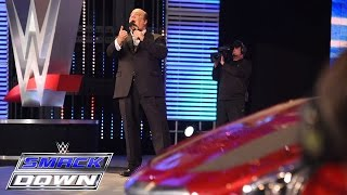 Paul Heyman engages in a war of words with Seth Rollins: SmackDown, July 9, 2015