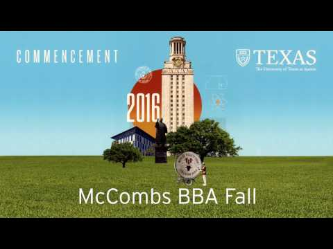 McCombs School of Business 2016 Fall Commencement