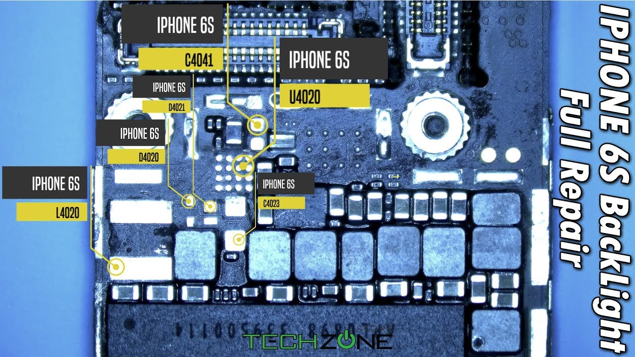 buy popular 45b80 ba994 iPhone 6S Dim Backlight Full Components Replacement