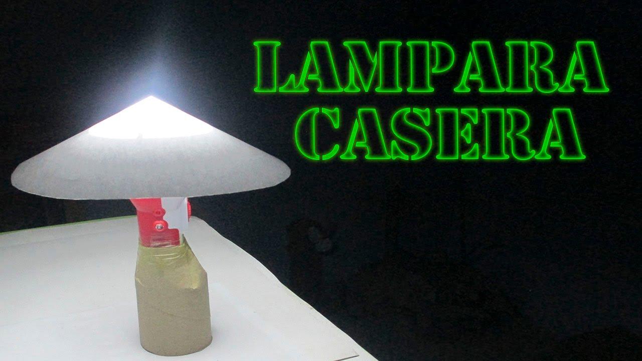 como hacer lamparas caseras