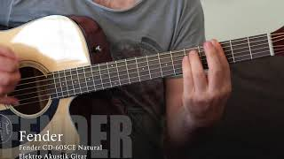 Fender CD 60SCE Natural