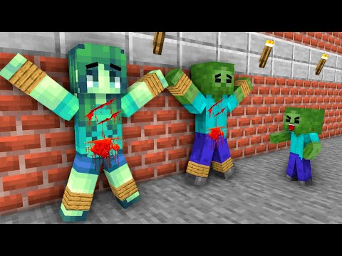 Monster School: Poor Baby Zombie Life  (Sad story but happy ending)- Minecraft Animation |