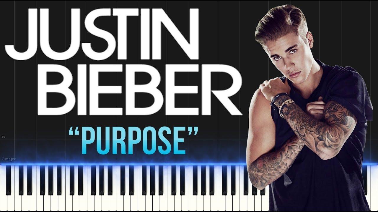 Download Justin Bieber - Purpose (Piano Tutorial Synthesia)