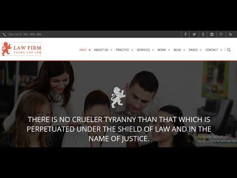 Law Firm WordPress Theme Installation & Customize