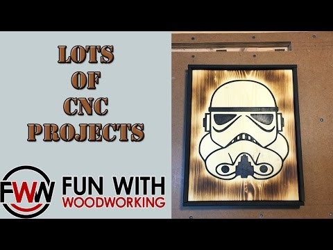 Building inventory for a woodworking booth - lots of CNC projects