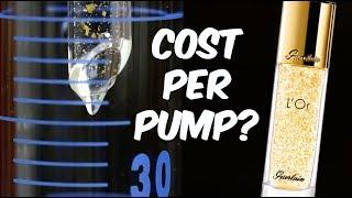 Cost per pump of the Guerlain L