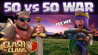 Clash of Clans: WHF vs. CLASH WITH ASH - 50 vs 50 Bonanza!