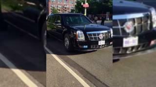 G20  Trump39;s Beast kam durch PolizeiCrash zum Stehen