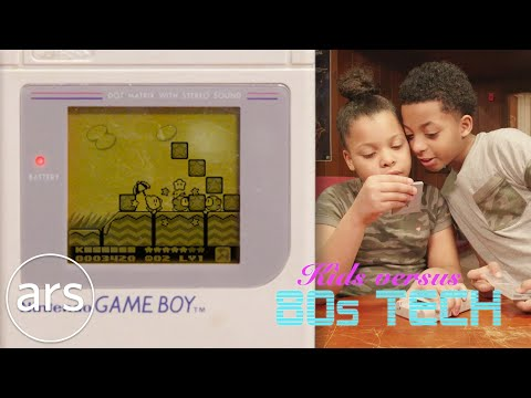 Kids versus a Game Boy, Vectrex and other 80