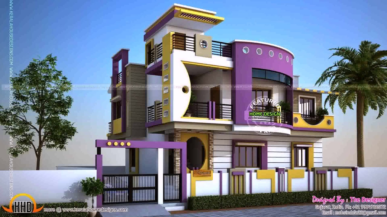 House Outside Wall Design In India - YouTube