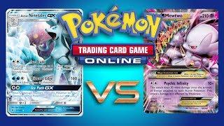 Ninetales GX / Zoroark GX vs Mega Mewtwo EX - Pokemon TCG Online Gameplay