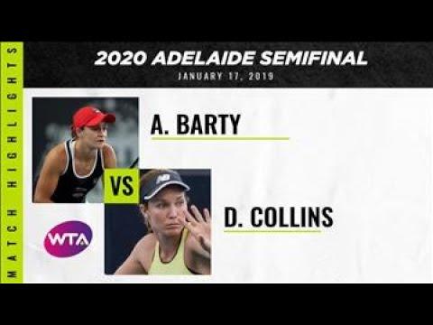 Ashleigh Barty Vs. Danielle Collins   2020 Adelaide International Semifinal   WTA Highlights