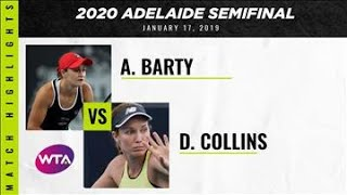 Ashleigh Barty vs. Danielle Collins | 2020 Adelaide International Semifinal | WTA Highlights