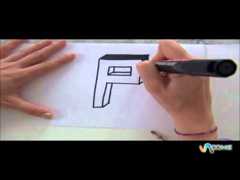 Come disegnare la lettera p in 3d youtube for Disegnare online 3d
