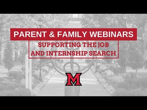 Supporting the Internship & Job Search