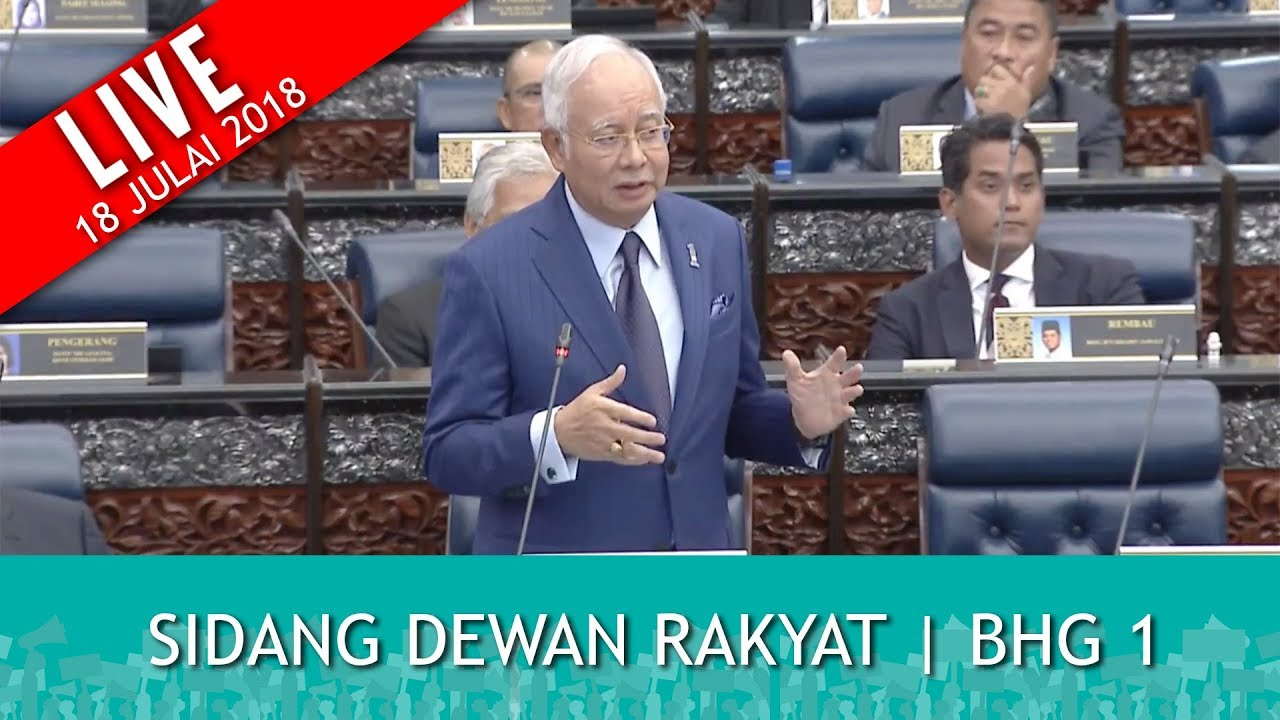 FULL: Sidang Dewan Rakyat - Part 1   Rabu 18 Julai 2018