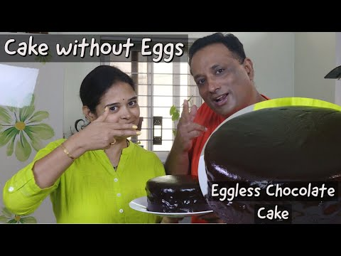 Egg-less chocolate cake Cake Without Eggs or Condensed Milk